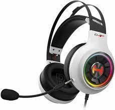 Гарнитура Edifier G4 TE, 20Hz-20kHz, 32 Om, 99dB, 2.5m, USB, RGB, White