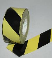 Лента оградительная (Сигнальная) Черно-желтая 35мкр*50мм*200м