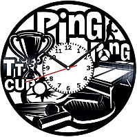 Настенные часы Настольный теннис, подарок фанатам, любителям, 2023