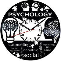 Настенные часы Психология, подарок психологу, 2031