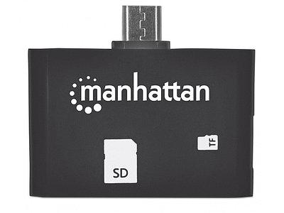 Картридер Manhattan imPORT SD 24-in-1, черный
