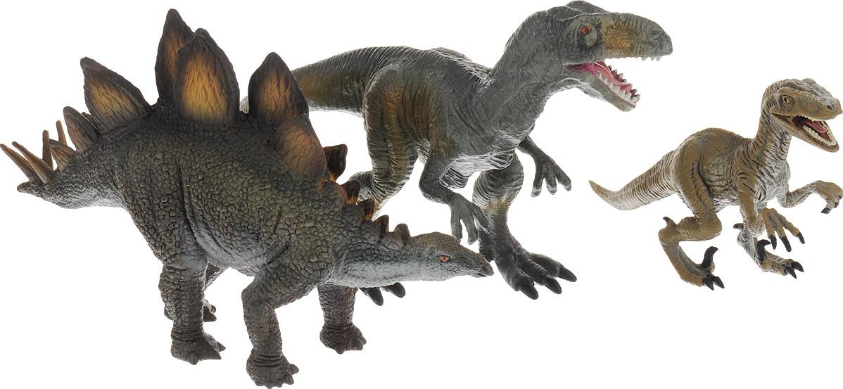 Collecta Набор фигурок динозавров №6 Тираннозавр, Стегозавр, Велоцираптор