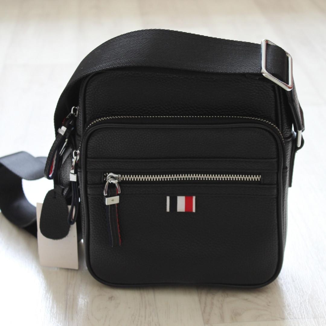 Мужская сумка через плечо, барсетка из натуральной кожи