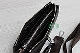 Мужская сумка барсетка коричневого цвета qp, фото 3