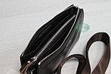 Мужская сумка барсетка коричневого цвета qp, фото 6