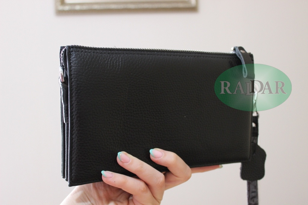Мужская сумка барсетка черного цвета qp