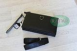 Мужская сумка барсетка черного цвета qp, фото 3