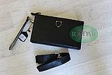 Мужская сумка барсетка черного цвета qp, фото 5