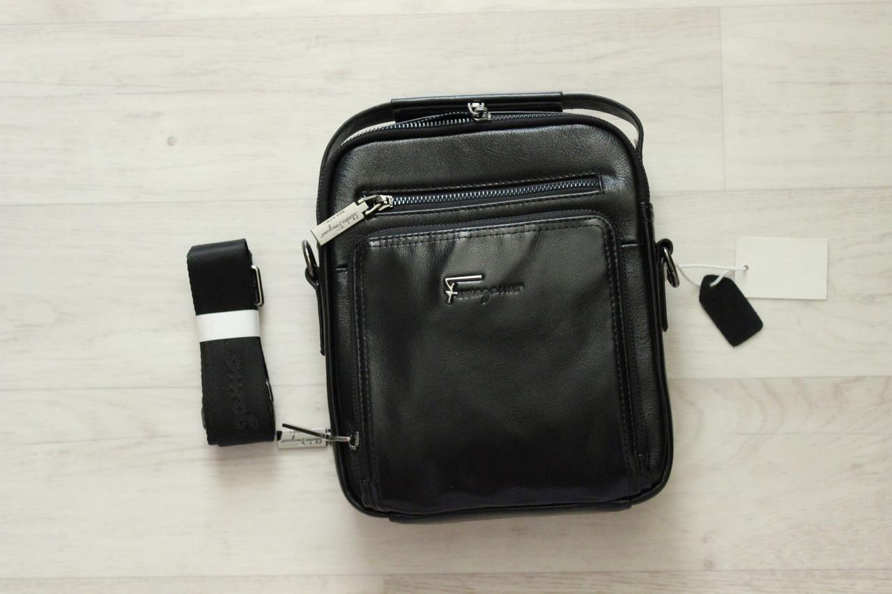 Мужская барсетка, сумка через плечо натуральная кожа