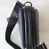 Мужская кожаная сумка барсетка BRADFORD, фото 6