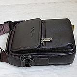 Мужская кожаная сумка барсетка BRADFORD, фото 7