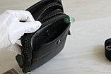 Мужская кожаная сумка барсетка через плечо, фото 6