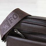 Мужская барсетка BRADFORD, коричневый, фото 7