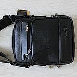 Мужская барсетка, сумка через плечо из кожи Bradford™, фото 2