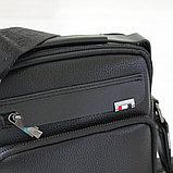 Мужская барсетка, сумка через плечо из кожи Bradford™, фото 3