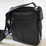 Мужская барсетка, сумка через плечо из кожи Bradford™, фото 4