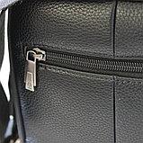 Мужская барсетка, сумка через плечо из кожи Bradford™, фото 6