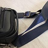 Мужская темно-синяя барсетка Bradford™, фото 4