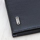 Мужское вертикальное портмоне, купюрница из натуральной кожи PRATERO™, фото 7