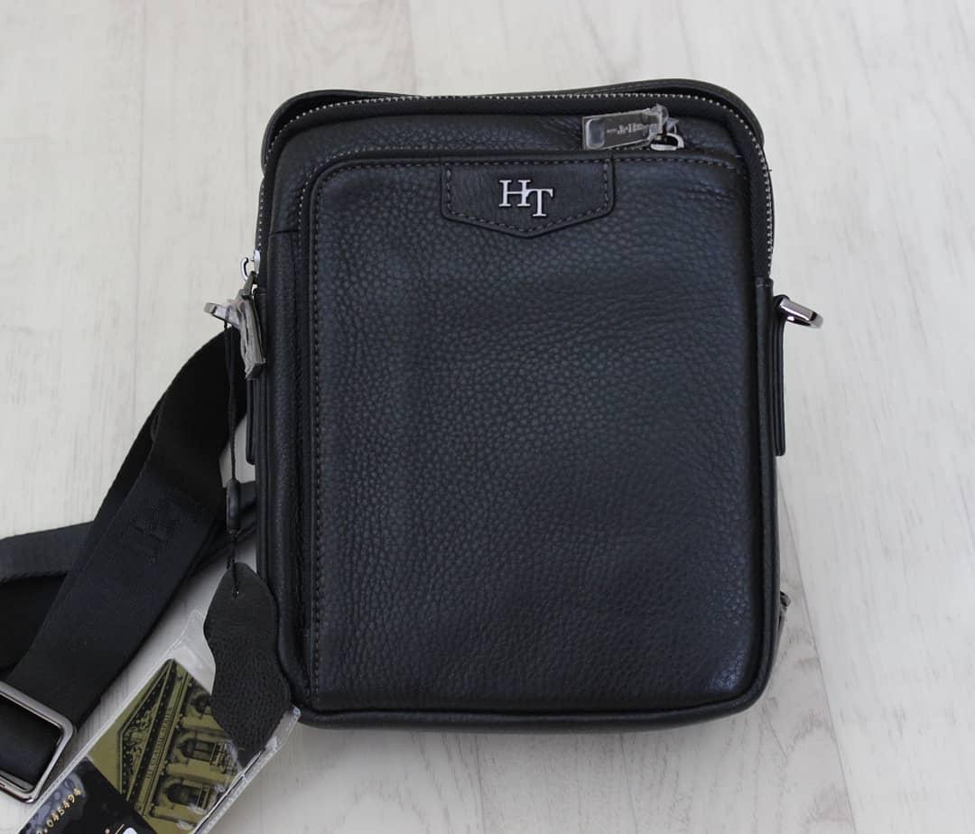 Мужская барсетка, сумка через плечо из натуральной кожи HT™