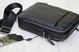 Мужская барсетка, сумка через плечо из натуральной кожи HT™, фото 3