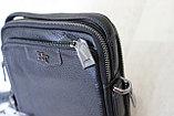 Мужская барсетка, сумка через плечо из натуральной кожи HT™, фото 6