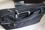 Мужской деловой портфель, сумка для ноутбука и документов, фото 5