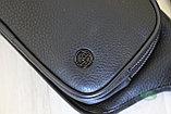 Мужская барсетка, кобура, поясная сумка, бананка из натуральной кожи HT Leather, фото 5