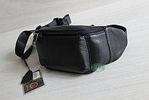Мужская поясная сумка, барсетка кобура из натуральной кожи