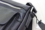Мужская барсетка, сумка через плечо из кожи JAGUAR, фото 4