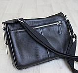 Мужская барсетка, сумка через плечо из кожи JAGUAR, фото 5