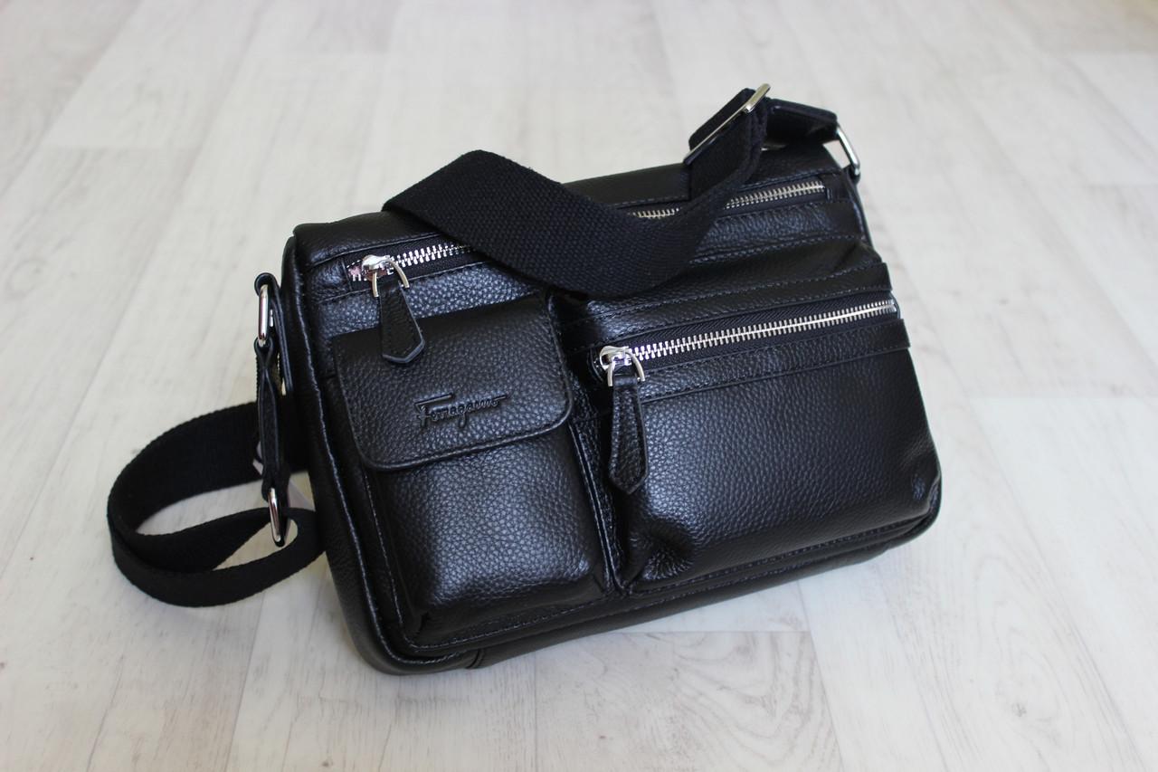 Мужская сумка, барсетка из натуральной кожи S.F.