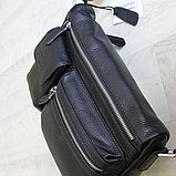 Мужская сумка, барсетка из натуральной кожи S.F., фото 5
