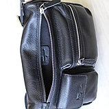 Мужская сумка, барсетка из натуральной кожи S.F., фото 6