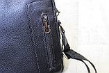 Мужская барсетка через плечо, мужская сумка из кожи S.F., фото 2