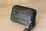 Мужская барсетка из натуральной кожи HT leather, фото 6