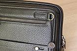Мужская барсетка из натуральной кожи HT leather, фото 7
