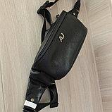 Мужская кожаная барсетка, кабура, бананка,нагрудная сумка A.Jeans, фото 2
