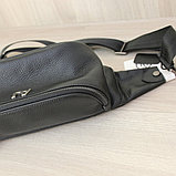 Мужская кожаная барсетка, кабура, бананка,нагрудная сумка A.Jeans, фото 5