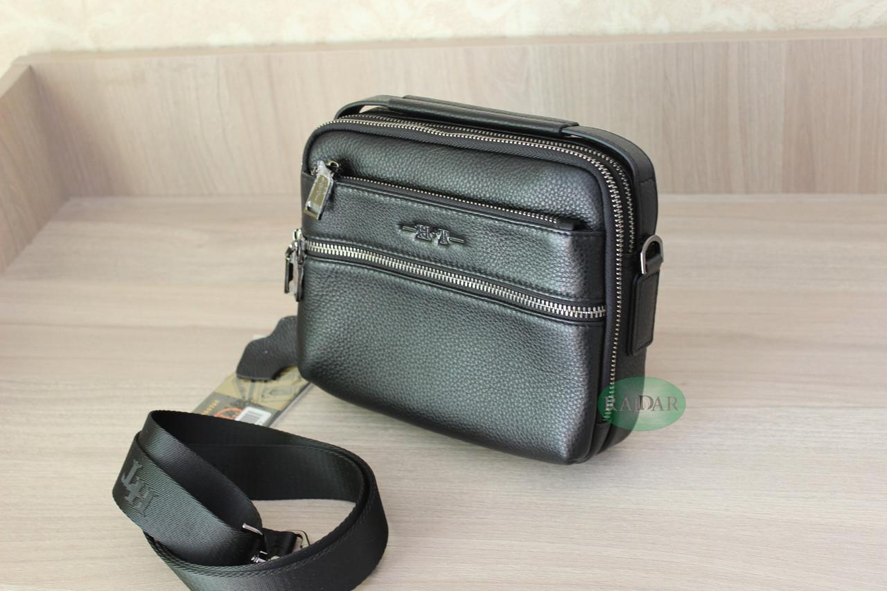 Мужская барсетка, сумка через плечо HT leather