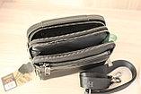 Мужская барсетка, сумка через плечо HT leather, фото 3