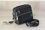 Мужская барсетка, сумка через плечо HT leather, фото 9