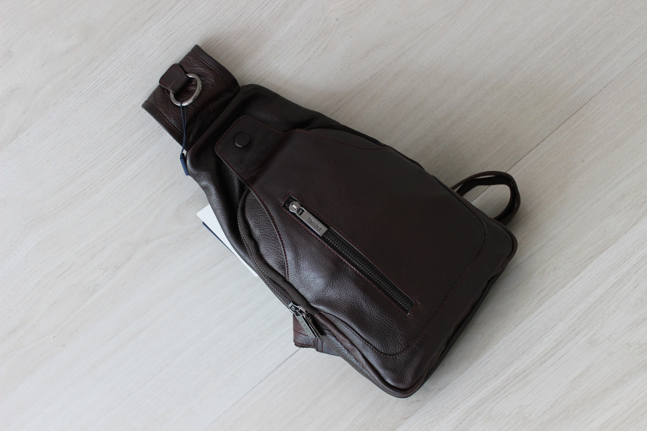 Мужская барсетка,сумка кобура, сумка слинг из натуральной кожи
