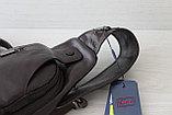 Мужская барсетка,сумка кобура, сумка слинг из натуральной кожи, фото 5