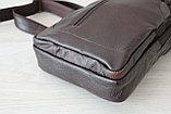 Мужская барсетка,сумка кобура, сумка слинг из натуральной кожи, фото 7