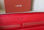 Женское портмоне из натуральной кожи, красное LoroPian, фото 3