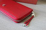 Женское портмоне из натуральной кожи, красное LoroPian, фото 5