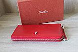 Женское портмоне из натуральной кожи, красное LoroPian, фото 6