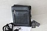 Мужская сумка барсетка из натуральной кожи, Индия, фото 3