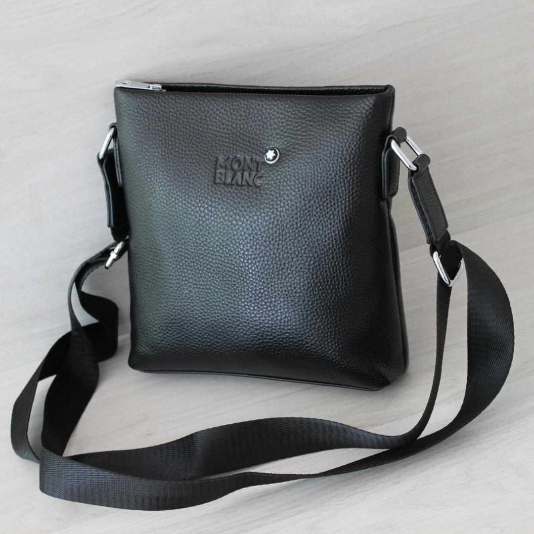 Мужская кожаная сумка планшет через плечо МВ